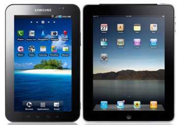 Samsung Galaxy Apple Tab iPad
