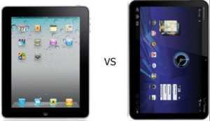Apple iPad Motorola Xoom