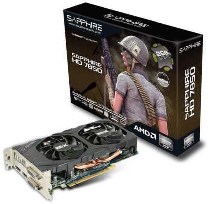 Sapphire Radeon HD 7850 Dual-X OC Edition 2GB GDDR5