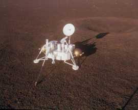 Исследовательский зонд Viking-1 на Марсе глазами художника
