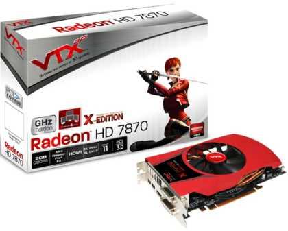 VTX3D Radeon HD 7870 2GB GDDR5 X-Edition
