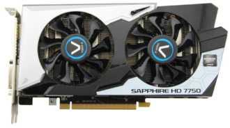 Sapphire Black Diamond Radeon HD 7750 1G GDDR5 OC