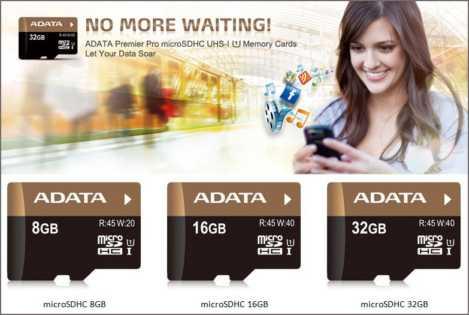 ADATA Premier Pro microSDHC Memory Cards